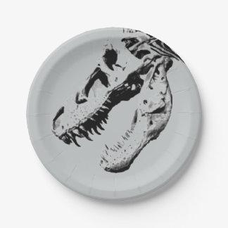 Tyrannosaurus rex 7 inch paper plate