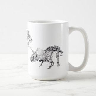 Tyrannosaurus rex and Triceratops Coffee Mug