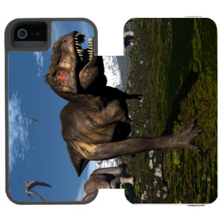 Tyrannosaurus rex attacked by triceratops dinosaur incipio watson™ iPhone 5 wallet case