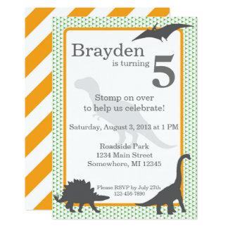 Tyrannosaurus Rex Birthday Invitation