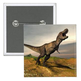 Tyrannosaurus rex dinosaur - 3D render 2 Inch Square Button