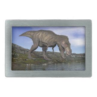 Tyrannosaurus rex dinosaur - 3D render Belt Buckle