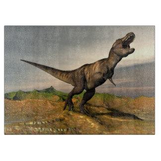 Tyrannosaurus rex dinosaur - 3D render Cutting Board