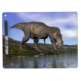 Tyrannosaurus rex dinosaur - 3D render Dry Erase Board With Keychain Holder