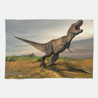 Tyrannosaurus rex dinosaur - 3D render Kitchen Towel