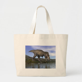 Tyrannosaurus rex dinosaur - 3D render Large Tote Bag