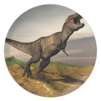 Tyrannosaurus rex dinosaur - 3D render Party Plate