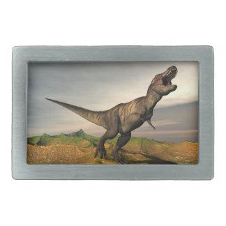 Tyrannosaurus rex dinosaur - 3D render Rectangular Belt Buckle