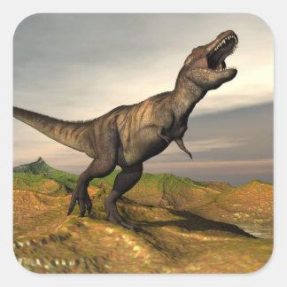 Tyrannosaurus rex dinosaur - 3D render Square Sticker