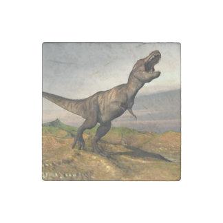 Tyrannosaurus rex dinosaur - 3D render Stone Magnets