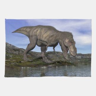 Tyrannosaurus rex dinosaur - 3D render Towel