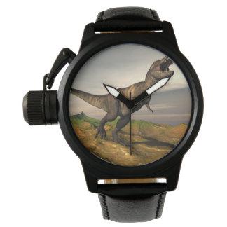 Tyrannosaurus rex dinosaur - 3D render Wristwatch