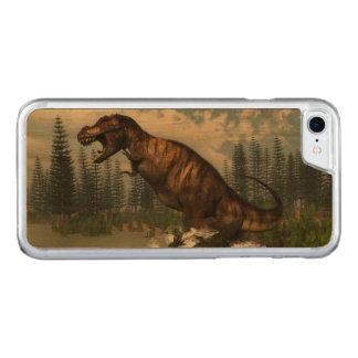 Tyrannosaurus rex dinosaur attacked by deinosuchus carved iPhone 8/7 case