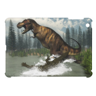 Tyrannosaurus rex dinosaur attacked by deinosuchus case for the iPad mini