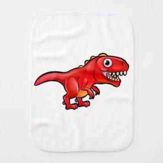 Tyrannosaurus Rex Dinosaur Cartoon Character Burp Cloth