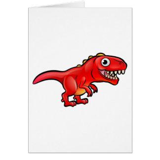 Tyrannosaurus Rex Dinosaur Cartoon Character Card