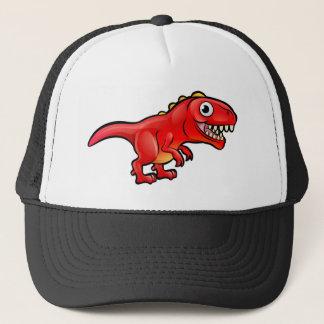 Tyrannosaurus Rex Dinosaur Cartoon Character Trucker Hat