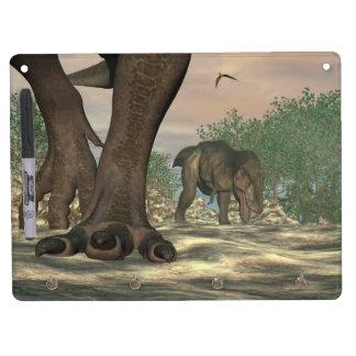 Tyrannosaurus rex dinosaur feet - 3D render Dry Erase Board With Keychain Holder