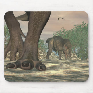 Tyrannosaurus rex dinosaur feet - 3D render Mouse Pad