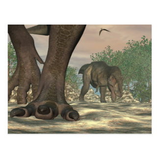Tyrannosaurus rex dinosaur feet - 3D render Postcard