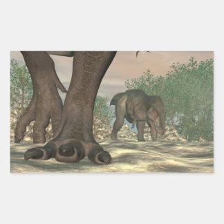 Tyrannosaurus rex dinosaur feet - 3D render Sticker