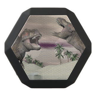 Tyrannosaurus rex dinosaur fight - 3D render Black Bluetooth Speaker