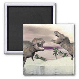 Tyrannosaurus rex dinosaur fight - 3D render Magnet