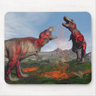 Tyrannosaurus rex dinosaur fight - 3D render Mouse Pad