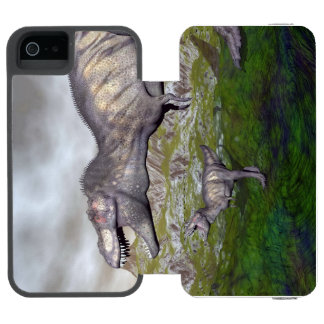 Tyrannosaurus rex dinosaur mum and baby- 3D render Incipio Watson™ iPhone 5 Wallet Case