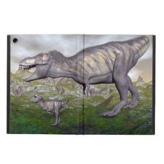 Tyrannosaurus rex dinosaur mum and baby- 3D render iPad Air Case