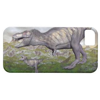 Tyrannosaurus rex dinosaur mum and baby- 3D render iPhone 5 Covers