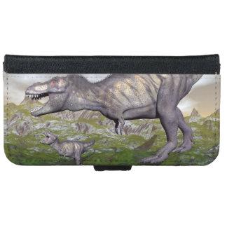 Tyrannosaurus rex dinosaur mum and baby- 3D render iPhone 6 Wallet Case