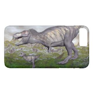 Tyrannosaurus rex dinosaur mum and baby- 3D render iPhone 7 Plus Case