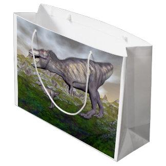 Tyrannosaurus rex dinosaur mum and baby- 3D render Large Gift Bag