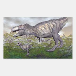 Tyrannosaurus rex dinosaur mum and baby- 3D render Sticker