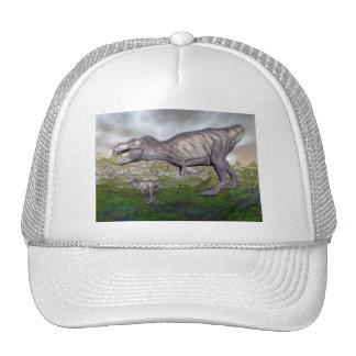 Tyrannosaurus rex dinosaur mum and baby- 3D render Trucker Hat