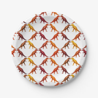 Tyrannosaurus Rex Dinosaur Paper Plates 7 Inch Paper Plate