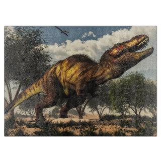 Tyrannosaurus rex dinosaur protecting its eggs boards
