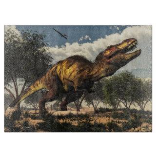 Tyrannosaurus rex dinosaur protecting its eggs cutting board