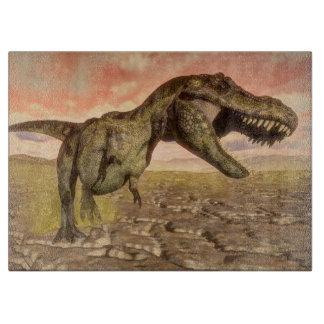 Tyrannosaurus rex dinosaur roaring boards