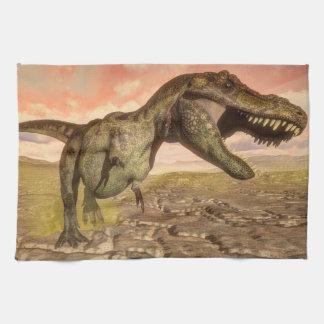 Tyrannosaurus rex dinosaur roaring kitchen towel