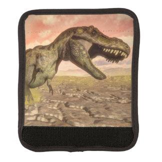 Tyrannosaurus rex dinosaur roaring luggage handle wrap