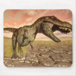 Tyrannosaurus rex dinosaur roaring mouse pad