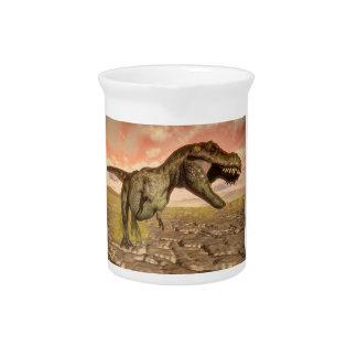 Tyrannosaurus rex dinosaur roaring pitcher