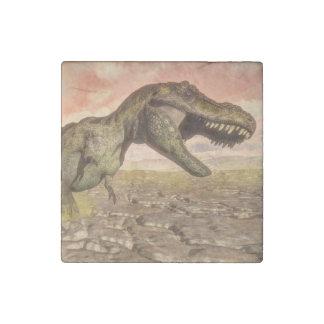 Tyrannosaurus rex dinosaur roaring stone magnets
