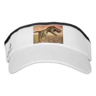 Tyrannosaurus rex dinosaur roaring visor