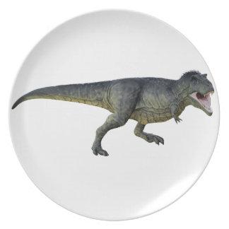 Tyrannosaurus Rex Dinosaur Running in Profile Plate