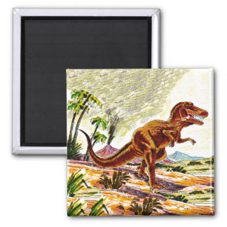 Tyrannosaurus Rex Dinosaur Square Magnet