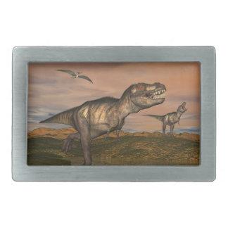 Tyrannosaurus rex dinosaurs - 3D render Belt Buckles