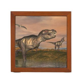 Tyrannosaurus rex dinosaurs - 3D render Desk Organizer